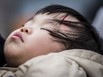 commended-sleeping child