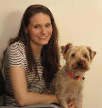 lisa with her dog