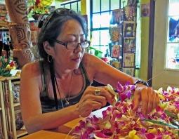making a lei