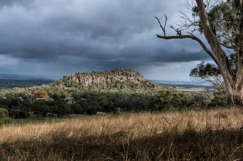 storm approaching hanging rock