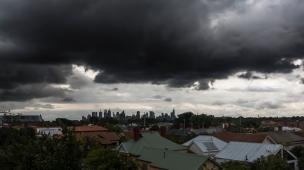 stormy melbourne sky