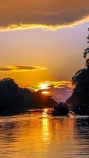sunset on the amazon
